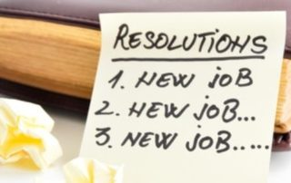 New Years Resolutions List with New Job as the top three
