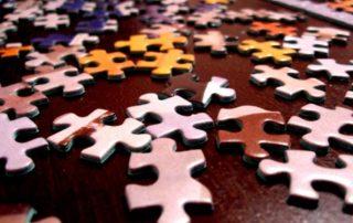 Puzzles pieces symbolizes company culture fit